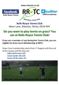 Grass Court Membership 2016
